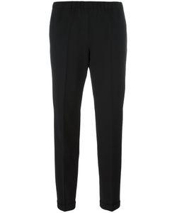 Alberto Biani | Pleated Tapered Trousers 46 Cotton/Spandex/Elastane/Virgin Wool
