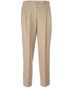 Alberto Biani | Pleated Tapered Trousers 40 Cotton/Spandex/Elastane/Virgin Wool