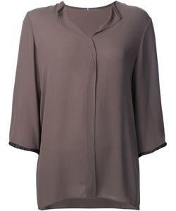PETER COHEN | Spread Collar Blouse Large Silk