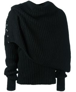 A NEW CROSS | Draped Turtle Neck Jumper Large
