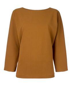 Alberto Biani | Flared Longsleeved Blouse 40 Polyester/Polyurethane/Rayon