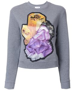 Carven | Crystal Motif Sweatshirt Medium Cotton/Polyester