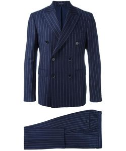 Dinner | Double-Breasted Pinstripe Suit 46 Cupro/Virgin Wool
