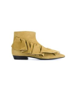 J.W. Anderson | J.W.Anderson Ruffle Ankle Boots 37 Leather/Suede