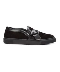 Louis Leeman | Tie Effect Slip-On Sneakers 40 Calf
