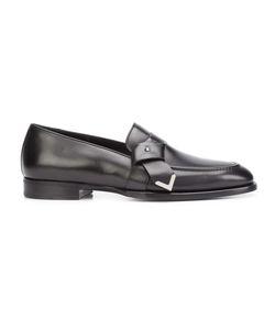Louis Leeman | Tie Effect Loafers 43 Calf Leather