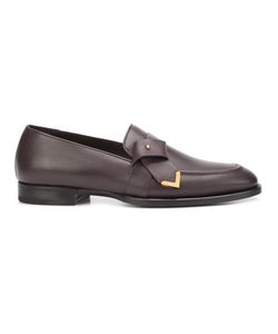 Louis Leeman | Tie Effect Loafers 41 Calf Leather