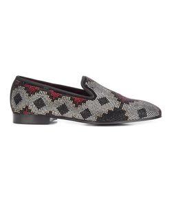 Louis Leeman | Swarovski Crystal Embellished Slippers 43 Silk/Calf