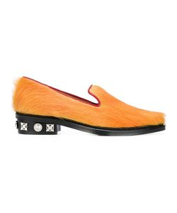 Toga | Studded Heel Slippers 35 Calf Leather/Leather