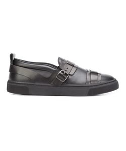 Louis Leeman | Buckled Slip-On Sneakers 43 Calf Leather/Rubber