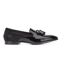 Louis Leeman | Crystal Embellished Slippers 44 Calf Leather/Patent