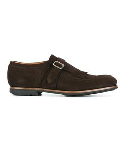 Church'S   Perforated Detailing Monk Shoes 7 Leather/Rubber