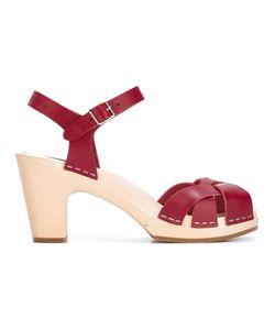 Swedish Hasbeens | Kringlan Sandals 37 Leather/Wood/Rubber