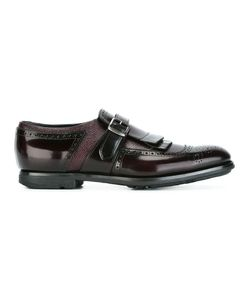 Church'S | Striped Buckled Brogues Mens Size 7 Leather/Rubber
