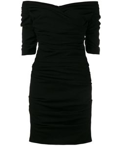 Dolce & Gabbana | Ruched Cocktail Dress 40 Silk/Polyamide/Spandex/Elastane/Virgin