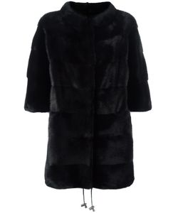Liska | Cropped Sleeves Coat Medium Mink Fur