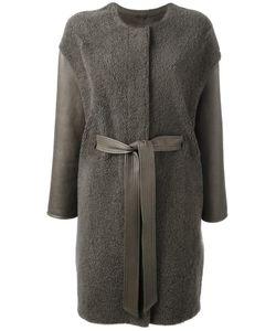 Liska | Belted Coat Small Lamb Skin/Lamb Fur