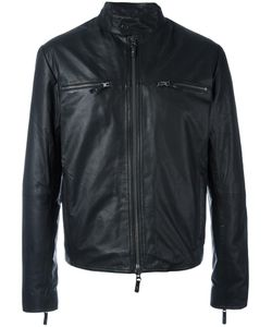 Andrea D'amico   Zipped Jacket 48 Cotton/Leather/Nylon/Other Fibers