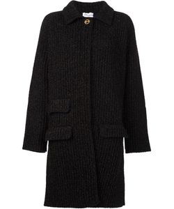 Sonia Rykiel | Flocked Ribbed Cardi-Coat Small Cashmere/Wool