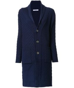 Julien David | Ribbed Cardi-Coat Large Wool