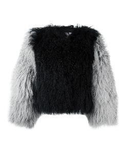 CHARLOTTE SIMONE | Classic Fuzz Jacket S/M Silk/Cotton/Lamb Fur
