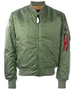 Alpha Industries | Zipped Arm Bomber Jacket Small Nylon/Polyester