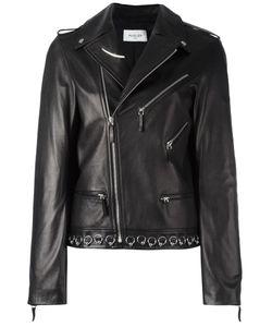 Mugler | Piercing Detail Biker Jacket 38 Lamb Skin/Polyester/Viscose