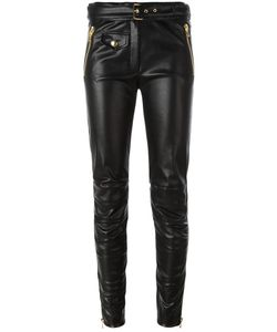 Moschino | Imitation Leather Trousers 42 Polyester/Polyurethane