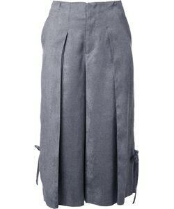 TARO HORIUCHI | Cropped Pleated Trousers Small Polyester