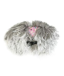 CHARLOTTE SIMONE | Muffin Tops Shearling Collar Silk/Cotton/Lamb Fur