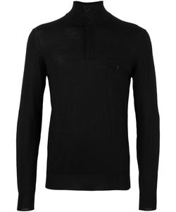 Paolo Pecora | High Neck Polo Shirt Xl Polyester/Polyurethane/Wool