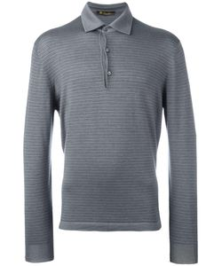 Loro Piana | Long Sleeve Polo Shirt 56 Silk/Cashmere