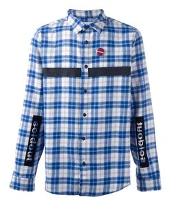 SOLD OUT FRVR | Patched Checked Shirt Large Cotton/Polyester/Other