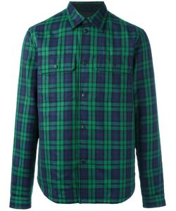 Burberry Runway | Chest Pockets Plaid Shirt 43 Polyester/Cupro/Virgin
