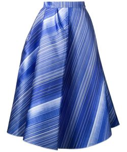 Vika Gazinskaya | Striped A-Line Skirt 40 Silk/Polyester