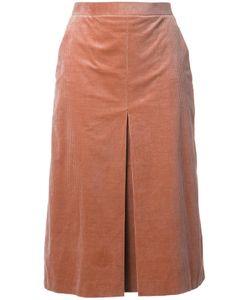 Cityshop | Box Pleated Pencil Skirt 36 Cotton/Polyurethane