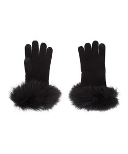 Sofia Cashmere | Cuff Detail Gloves Fox Fur/Cashmere