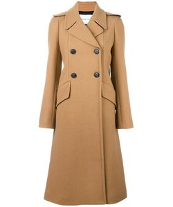Sonia Rykiel | Double Breasted Coat 42 Nylon/Viscose/Wool