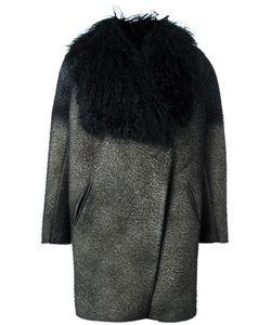 Avant Toi | Pilling Effect Coat Xs Polyester/Spandex/Elastane/Viscose/Lamb Fur