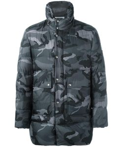 Moncler Gamme Bleu | Camouflage Print Coat Iv Cotton/Feather