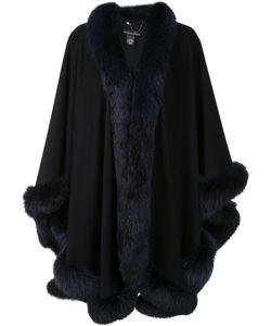 Sofia Cashmere | Trim Detail Oversized Coat Fox Fur/Cashmere