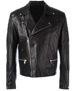 JUUN.J | Zip Up Biker Jacket 50 Cotton/Sheep Skin/Shearling/Polyester/Rayon