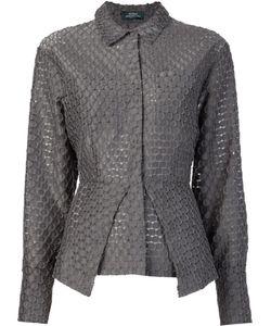 Alena Akhmadullina | Dot Jacquard Peplum Shirt 44 Cotton/Polyamide/Polyester