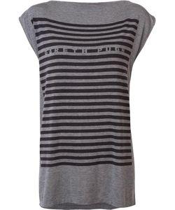 Gareth Pugh | Striped T-Shirt 40 Nylon/Spandex/Elastane/Modal