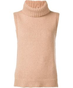LEO & SAGE | Roll Neck Sleeveless Knitted Top Small