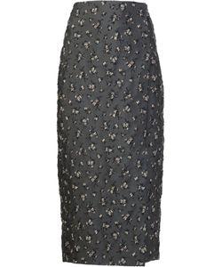 BROCK COLLECTION   Dark Skirt 4 Silk/Nylon/Polyester