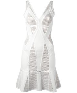 Hervé Léger | Perforated Flared Dress Xs Nylon/Spandex/Elastane/Rayon