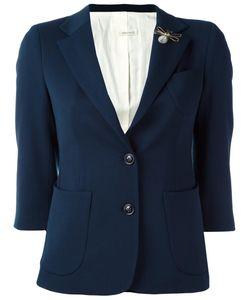 +people | Single Breasted Cropped Jacket 44 Polyester/Spandex/Elastane/Virgin Wool
