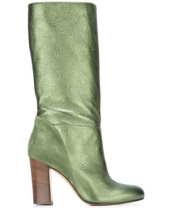 Michel Vivien | Heeled Mid Calf Boots 40 Leather/Suede