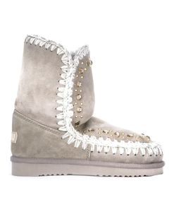 Mou | Eskimo Stones Boots 37 Sheep Skin/Shearling/Metal Other/Glass